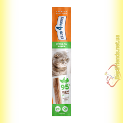 Club 4 Paws Premium Мясная палочка с Курицей и Уткой для котов