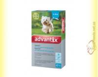 Купить Advantix капли для собак весом от 4 до 10кг