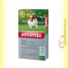 Advantix капли для собак весом до 4кг