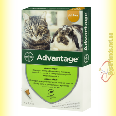 Advantage 40 Капли для кошек весом менее 4кг