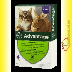 Advantage 80 Капли для кошек весом свыше 4кг
