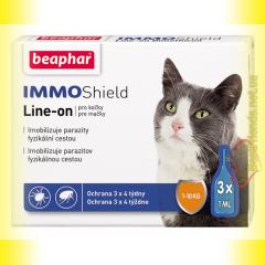 Beaphar IMMO Shield Line-on Капли от паразитов для кошек 1-10кг