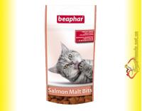 Купить Beaphar Salmon Malt Bits Лакомство с Лососем для вывода шерсти у кошек
