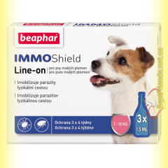 Beaphar IMMO Shield Line-on Капли от паразитов для собак 1-15кг