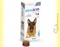 Купить Bravecto Таблетки от блох и клещей для собак весом от 20 до 40кг
