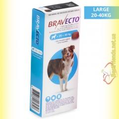 Bravecto Таблетки від бліх та кліщів для собак вагою від 20 до 40кг