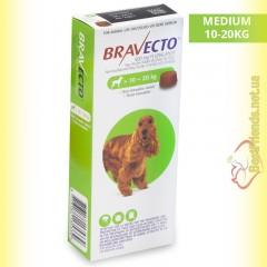 Bravecto Таблетки від бліх та кліщів для собак вагою від 10 до 20кг