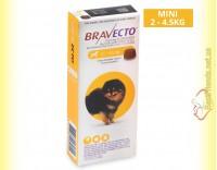 Купить Bravecto Таблетки от блох и клещей для собак весом от 2 до 4,5кг