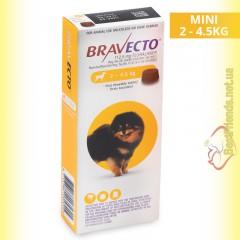 Bravecto Таблетки от блох и клещей для собак весом от 2 до 4,5кг