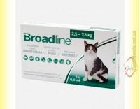 Купить Broadline Spot-On Капли на холку от паразитов для кошек весом от 2,5 до 7,5кг