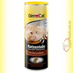 GimCat Katzentabs витамины с дичью и биотином 425гр