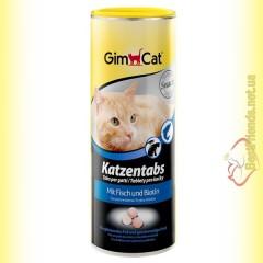 GimCat Katzentabs витамины с рыбой и биотином 425гр