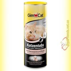 GimCat Katzentabs витамины с сыром Маскарпоне и биотином 425гр