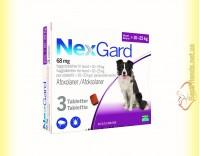Купить NexGard Таблетки от блох и клещей для собак весом от 10 до 25кг