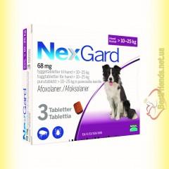 NexGard Таблетки від бліх та кліщів для собак вагою від 10 до 25кг