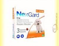 Купить NexGard Таблетки от блох и клещей для собак весом от 2 до 4кг