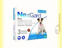 Купить NexGard Таблетки от блох и клещей для собак весом от 4 до 10кг
