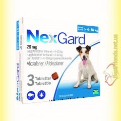 NexGard Таблетки от блох и клещей для собак весом от 4 до 10кг