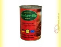 Купить Baskerville консервы для кошек Мясо Курицы и Сердечки 400гр
