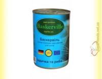 Купить Baskerville консерва для кошек Индейка и Рыба 400гр