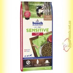 Bosch Sensitive Lamm & Reis для взрослых собак, склонных к аллергическим реакциям 15кг