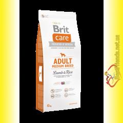 Brit Care Adult Medium Breed Lamb&Rice корм для собак средних пород 12кг