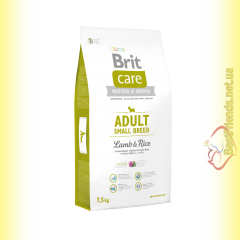 Brit Care Adult Small Breed Lamb&Rice корм для собак мелких пород 7,5кг