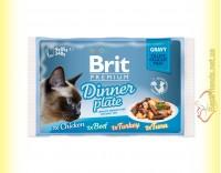 Купить Brit Premium Cat Dinner Plate Gravy Обеденная тарелка в соусе 340гр Акция 3+1
