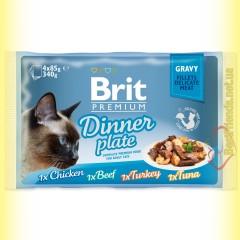 Brit Premium Cat Dinner Plate Gravy Обеденная тарелка в соусе 340гр