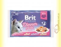 Купить Brit Premium Cat Dinner Plate Jelly Обеденная тарелка в желе 340гр Акция 3+1