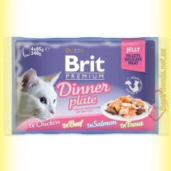 Brit Premium Cat Dinner Plate Jelly Обеденная тарелка в желе 340гр