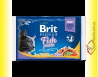 Купить Brit Premium Cat Fish Plate Рыбная тарелка 400гр Акция 3+1