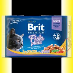 Brit Premium Cat Fish Plate Рыбная тарелка 400гр