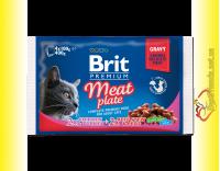 Купить Brit Premium Cat Meat Plate Мясная тарелка 400гр Акция 3+1