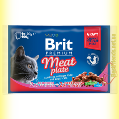 Brit Premium Cat Meat Plate Мясная тарелка 400гр