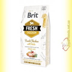 Brit Fresh Chicken&Potato Adult корм для собак с Курицей и Картофелем