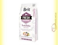 Купить Brit Fresh Chicken&Potato Puppy корм для щенков с Курицей и Картофелем