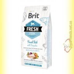 Brit Fresh Fish&Pumpkin Adult Large Breeds корм для собак крупных пород с Рыбой и Тыквой