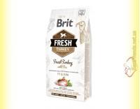 Купить Brit Fresh Turkey&Pea Overweight and Senior Adult корм для собак с Индейкой и Горохом