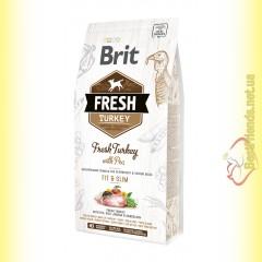 Brit Fresh Turkey&Pea Overweight and Senior Adult корм для собак с Индейкой и Горохом