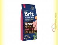 Купить Brit Premium Adult Junior L корм для щенков крупных пород