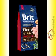 Brit Premium Adult L корм для собак крупных пород 15кг