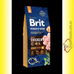 Brit Premium Adult M корм для собак средних пород 15кг