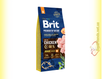 Купить Brit Premium Adult Junior M корм для щенков средних пород 15кг