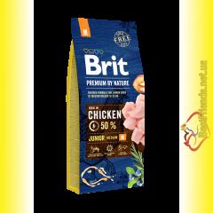 Brit Premium Adult Junior M корм для щенков средних пород 15кг