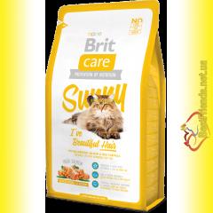 Brit Care Cat Sunny корм для кошек, дополнительный уход за шерстью 7кг