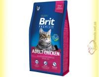 Купить Brit Premium Cat Adult Chicken корм для взрослых кошек с курицей 8кг