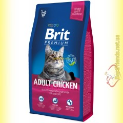 Brit Premium Cat Adult Chicken корм для взрослых кошек с курицей 8кг