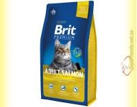 Купить Brit Premium Cat Adult Salmon корм для взрослых кошек с лососем 8кг