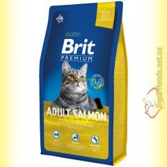 Brit Premium Cat Adult Salmon корм для взрослых кошек с лососем 8кг